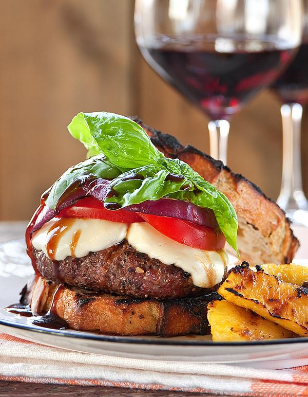 The juicy, finger-licking good caprese burger! (1/3)