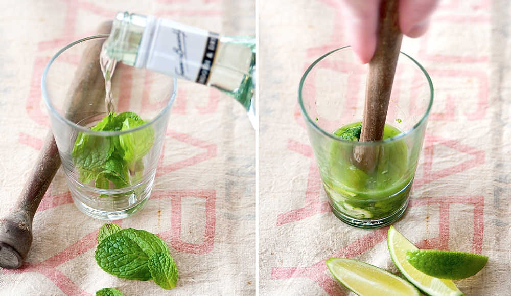 The drink of choice for Sam Axe: The Minty Mojito.  (2/3)