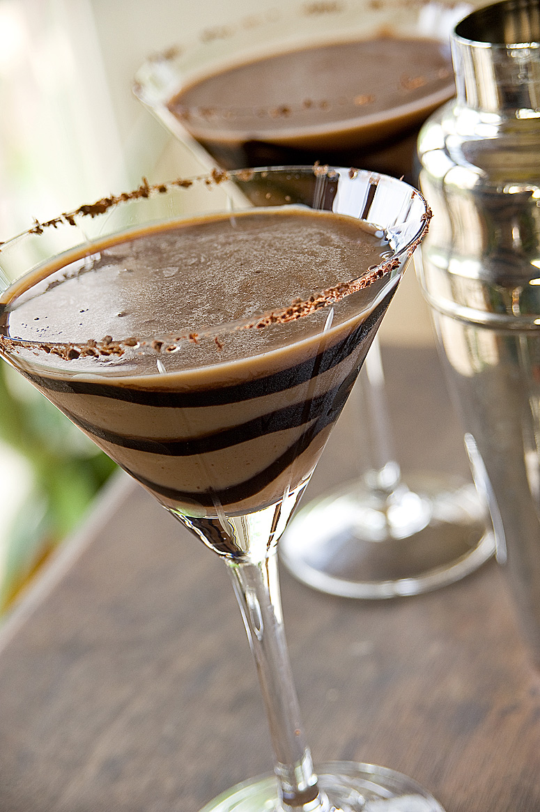 "The perfect chocolate martini, or ""Heaven in a glass"" 