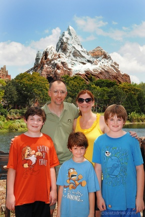 The five of us in Animal Kingdom after our Expedition to Everest.
