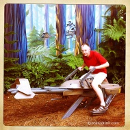 Yes, Rich can ride a speeder bike with the best of them...