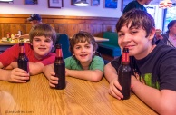 The boys were very excited to see Saranac Root Beer on the menu!