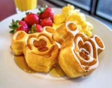 Mickey waffles at Chef Mickey's.
