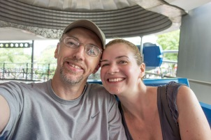 Me and my girl chillin' on the peoplemover.