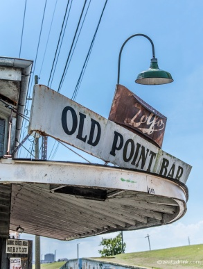 Old Point Bar sign.